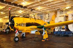 Airplane on USS Hornet Hanger deck